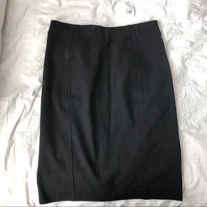 NWT Ann Taylor black pencil bi stretch skirt sz 4